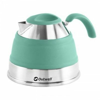 Outwell Collaps Camping Portable Collapsable Kettle - Turquoise, 1.5 Litre