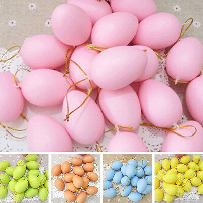 12pc DIY Plastic Egg For Easter Party Home Decor Festival Gift Kids Toy Painting