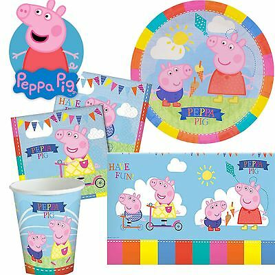 Peppa Pig Childrens Birthday Party Supplies Tableware Girls Boys Decorations