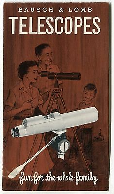 "Vintage Sales Brochure: ""Bausch & Lomb Balscope Telescopes"""