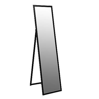 Free Standing Full Length Tilting Dressing Floor Bedroom Mirror - Black