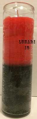 Red & Black, Double Action Reversible, 7 Day Candle, Lunari13, Spells, Wicca