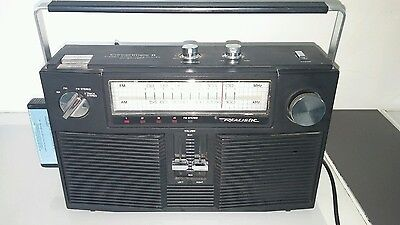 Vintage Realistic Concertmate 8 stereo radio 8 track tape player tested working