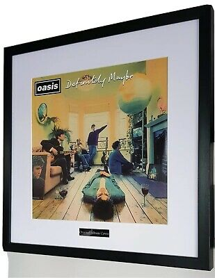 Oasis Definitely Maybe Framed Original Album Cover-Ltd Edition-Certificate