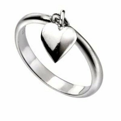 925 Solid Sterling Silver Heart Ring Ladies Mens Thumb Finger