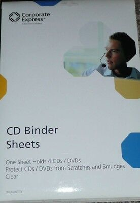40 CD/DVD Protector Sheets for 3-Ring Binder Corporate Express CEB31531 4 packs