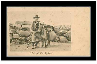 (D1) New Cpa Royaume-Uni *** Pat And His Donkey *** Agriculture & Attelage
