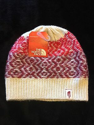 66f64a7bfd0 Brand New Women s The North Face Tribe N True Beanie Vintage White Biking  Red