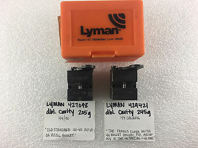 LYMAN 44/40 (427098A) and 44 Cal. (429421GP) Bullet Moulds Elmer Keith