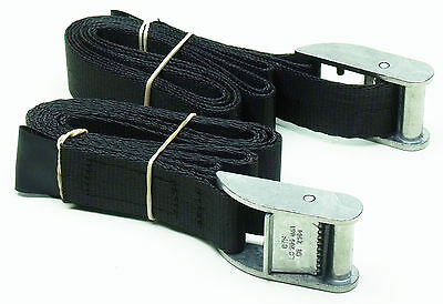2-pack of 1.5m x 25mm Cam Buckle Tie-Down Endless Lashing 400kg; Cargo Straps