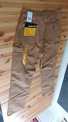 Mens Sz 34 x 34 Brown Carhartt WASHED DUCK WORK DUNGAREE Tan Pants Jeans NWT New