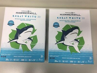( 2 ) Pack of Hammermill Great White 30  Paper (500 Sheets each)