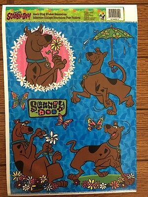 2000 Cartoon Network SCOOBY DOO Static Cling Window Decorations Reusable Set