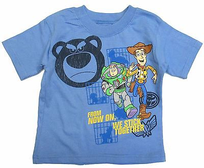 Disney Toy Story Toddler Boys Graphic Tee Shirt Short Sleeve Blue 2t 3t 4t nwt