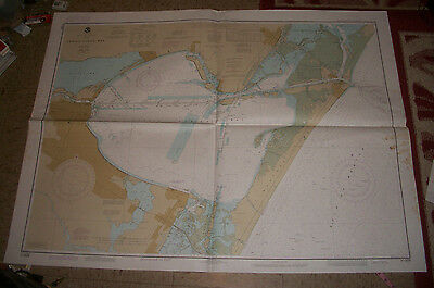 1985 Nautical Chart Map Corpus Christi Bay Texas Dept of Commerce