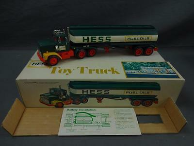 Vintage 1977 HESS Fuel Oils Tanker Truck Complete in Box Working - A