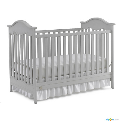 New Baby Crib with Mattress Convertible Infant Cot Toddler Bed Nursery Furniture