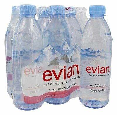 9be6ef9a17 EVIAN - NATURAL Spring Water 16.9 oz. Bottles - 6 Pack - $7.69 ...