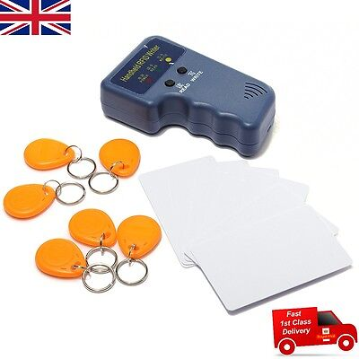 RFID T5577 125KHz EM4100 ID Card Copier Duplicator + 6 Writable Tags & 6 Cards