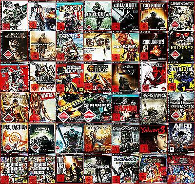 PS3 AB 18!TROY+GTA GRAND,METAL ,ViKINGS,FIST,WARFARE,DEAD,FALLOUT,MEDAL WÄHLBAR
