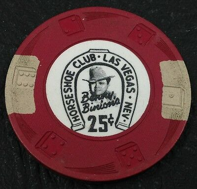 Horseshoe Club 25¢ Casino Chip Las Vegas Nevada Diswrl Mold 1950's FREE SHIPPING