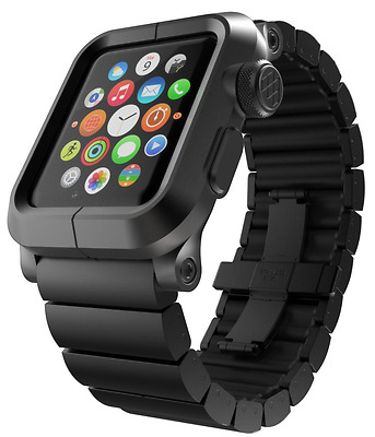 LUNATIK EPIK Aluminum Case and Metal Link Band for Apple Watch Series 1, Black/B
