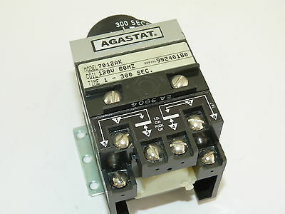 Agastat 7012AK Time Delay Relay 1 to 300 Sec 120v Used