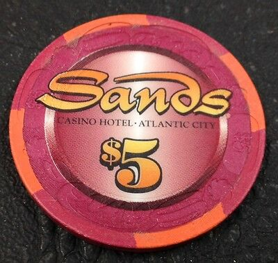 Sands $5 Casino Chip Atlantic-City New Jersey House Paulson Mold FREE SHIPPING