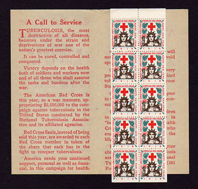 1918-2 Red Cross Christmas Seals Booklet Pane & Cover