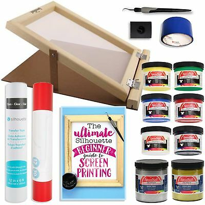 Silhouette Cameo Screen Printing Bundle with Extra Paints and 10 Inch x 14 Inch