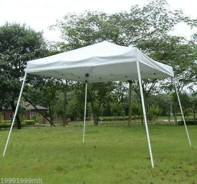 Outsunny 10'x10' Folding Tent Pop Up Outdoor Patio Instant Canopy Shelter White