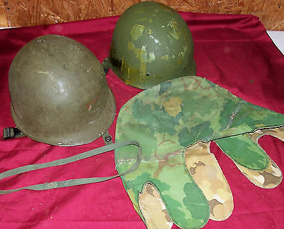 WWII Front Seam M1 Helmet Vietnam Reversible Mitchell Camo Cover US USGI Army