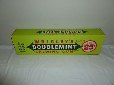 1970s Wrigley's Doublemint Chewing Gum 5 Stick Store Advertising Display Box-BL