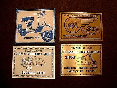 Vintage Vespa Motorbikes & Scooters Plaques and Patch