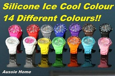 Ice Cool Colour Watch Unisex Ladies Mens Childrens Ice Cool Color Watch Wrist!!!