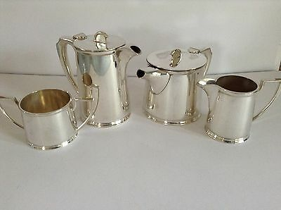 Vintage Elegant Silver Plate 4 Piece Tea Set - Walker & Hall - Sheffield