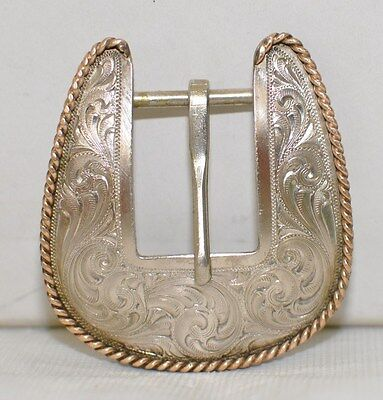 Montana Silversmith German Silver Western Etched Buckle