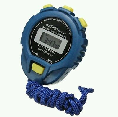 LCD Digital Sports Stop watch Play StopWatch Timer Alarm Counter -Sw.blu