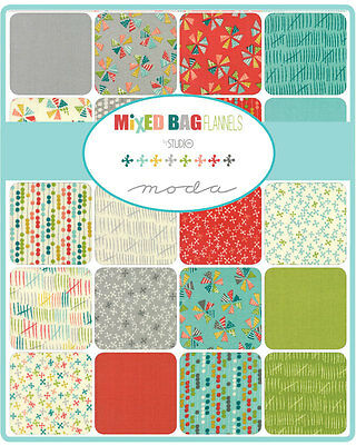 Patchwork/quilting Fabric Moda Charm Squares/packs - Mixed Bag