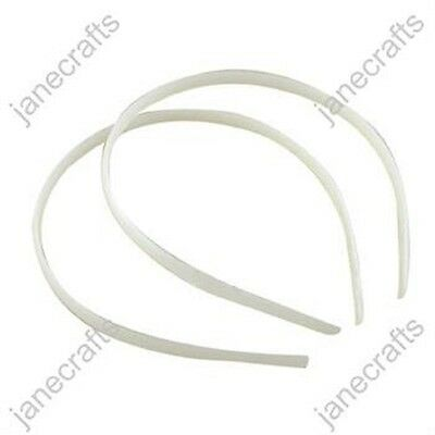 WHOLESALE White Plastic Headband Hair Band Accessories Craft No Teeth Hairwear