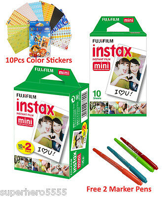 30 Pcs Fujifilm Instax Mini White Film For Fuji Instant Camera 7s 8 25 50s 55 90