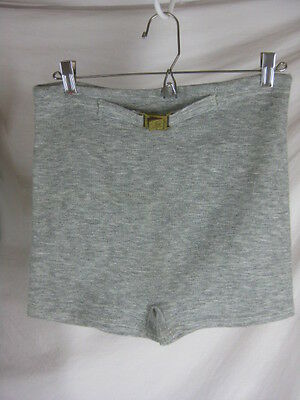 30s 40s Mens Grey Acetate Rubber Blend Swim Board Trunks Bathing Suit
