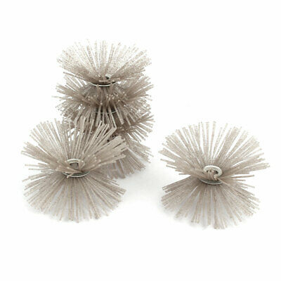 80 Grit Abrasive Nylon Wire Brushes Woodworking Polishing Grinding Wheels 5pcs