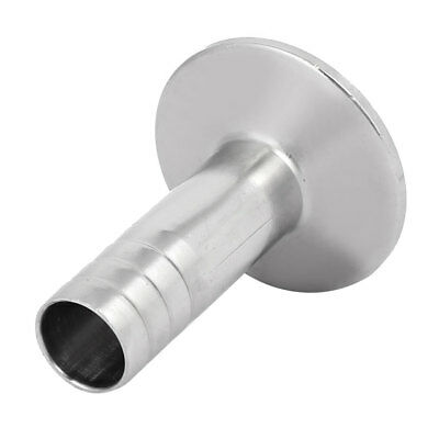 19mm Dia Stainless Steel Sanitary Hose Barb Fitting to 1.5-inch Tri Clamp Clover