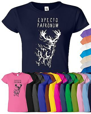 Expecto Patronum Womens T-Shirt Harry Potter Rowling Lord Wizard Deathly Hallows