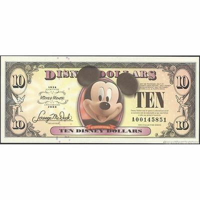 TWN - DISNEY - 10 Dollars 2008 UNC 80th Ann. Micky Mouse private issue