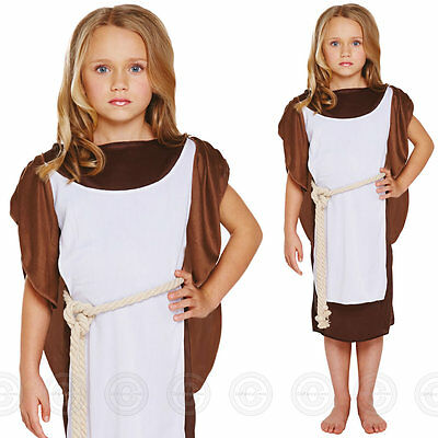 Girls Viking Fancy Dress Costume Warrior Saxon Kids Outfit Childs Book Day Week