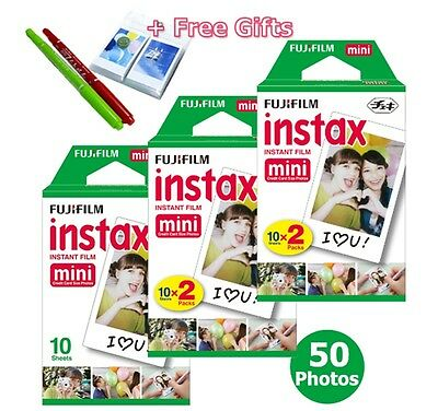50 Pcs Fujifilm Instax Mini White Film Polaroid For Fuji Instant Camera 7s 55 90