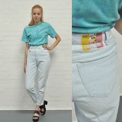 "Vintage High Waisted Pale Blue Denim Mom Jeans 6 W 26"" L 28"" 90's Nineties Retro"