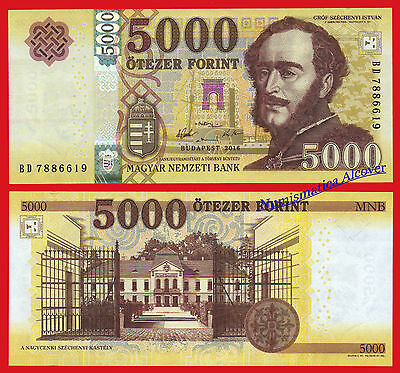 HUNGRIA HUNGARY 5000 forint 2016 (2017) Pick NEW  SC / UNC